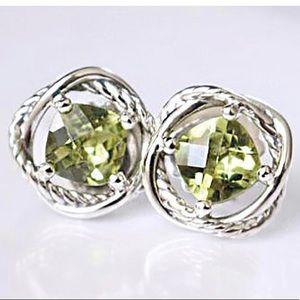 David Yurman Lemon Citrine Infinity Earrings